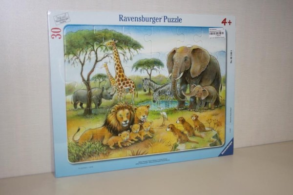 Rahmenpuzzle 30T Afrikas