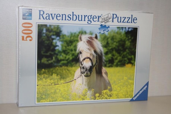 Puzzle 500T Pferd im Raps