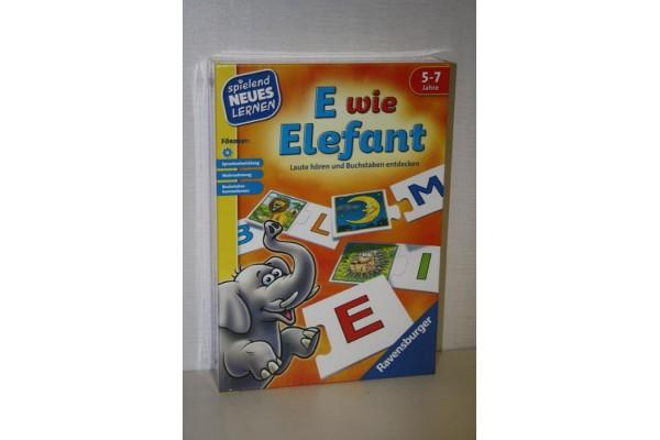 Neues Lernen E wie Elefant