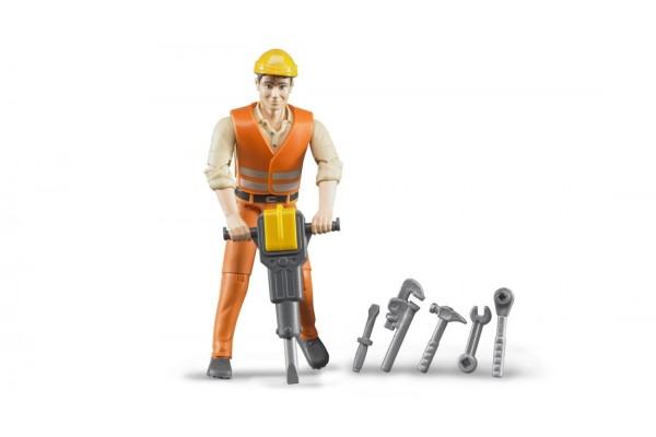 bworld Bauarbeiter mit Zubehö